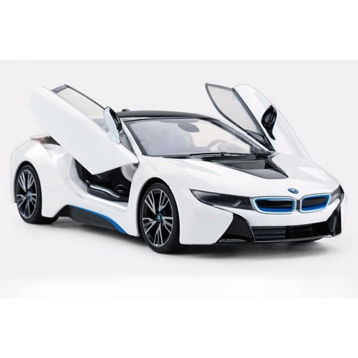 Auto modelis RV Rastar BMW i8 baltas 1/14